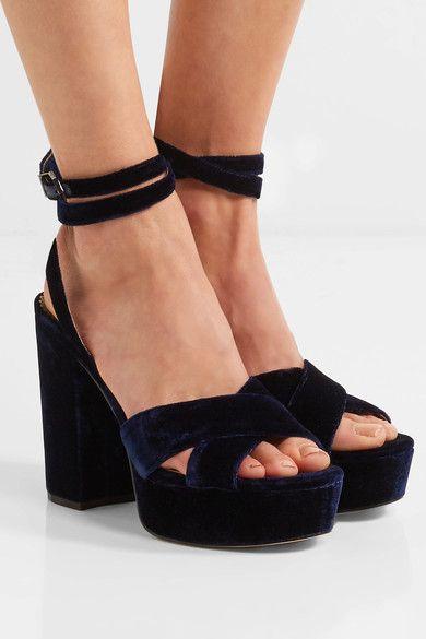 Sam Edelman Mara Velvet Platform Sandal eAXaa