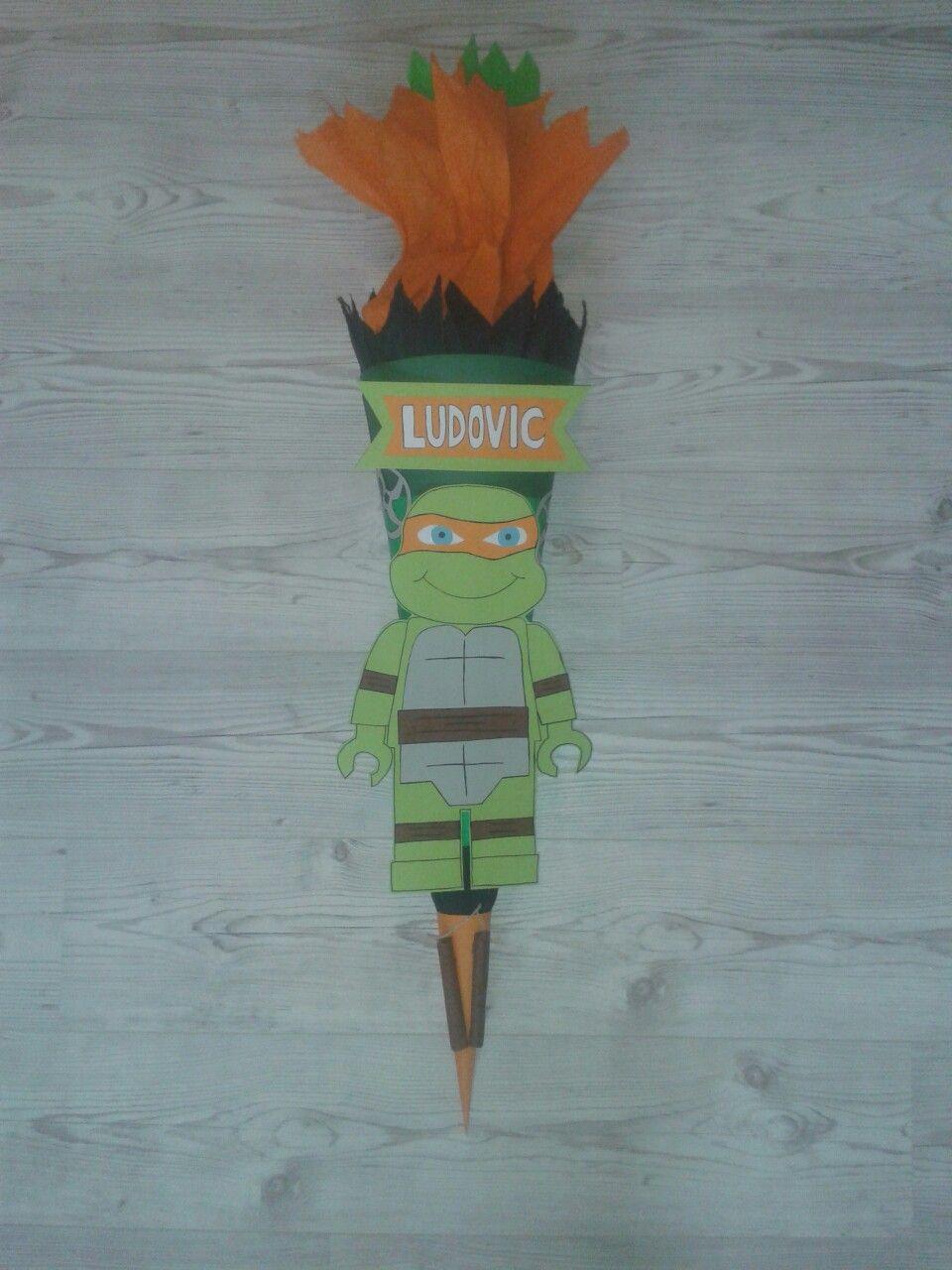 Teenage Mutant Ninja Turtles Schultüte Zuckertüte Selbstgebastelt