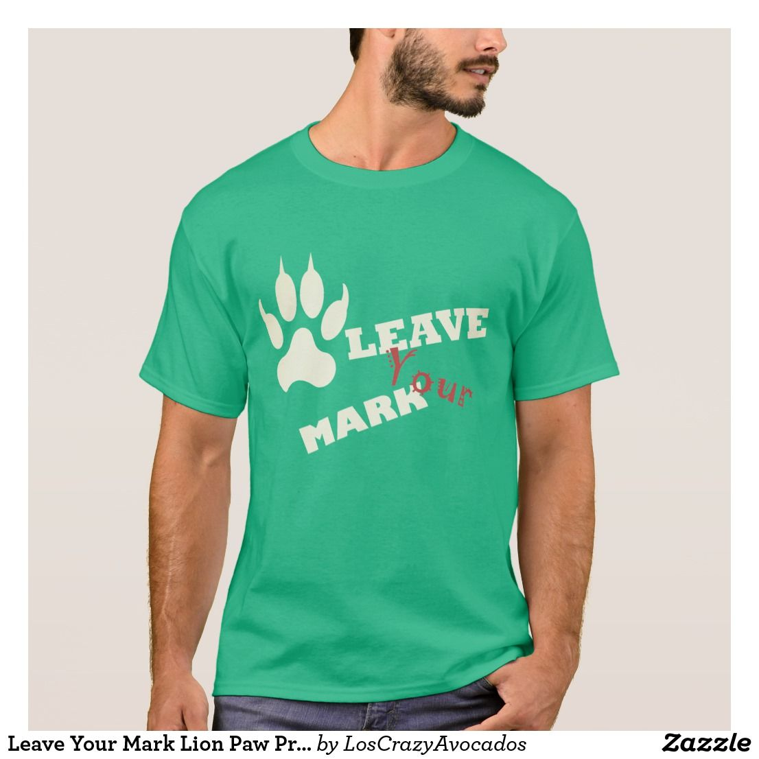 leave your mark lion paw print t shirt in 2018 cool male outfits