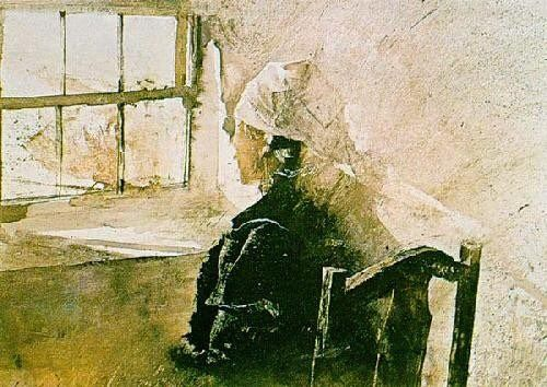 Mrs Kuerner 1957 By Andrew Wyeth With Images Andrew Wyeth