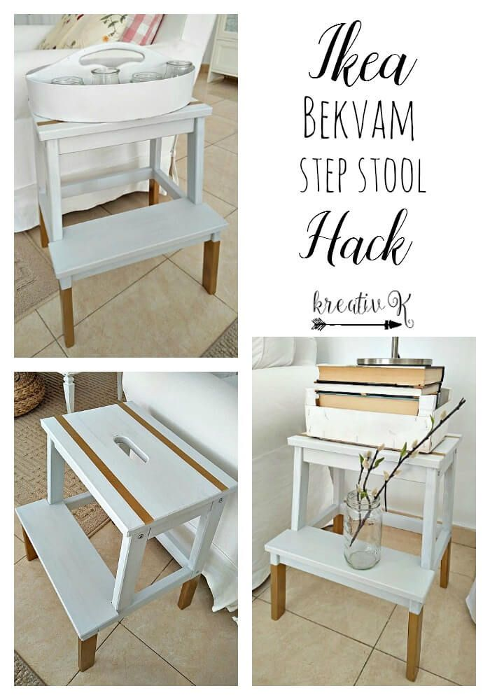 Ikea Bekvam step stool hack kreativk.net
