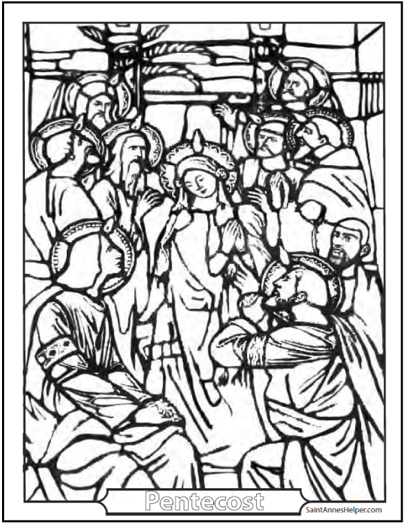 Pentecost Coloring Page Catholic Sacrament Of Confirmation