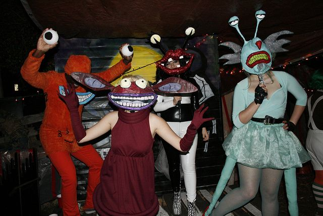 Aaahh Real Monsters Costumes Monster Costumes Creepy Costumes Group Halloween Costumes