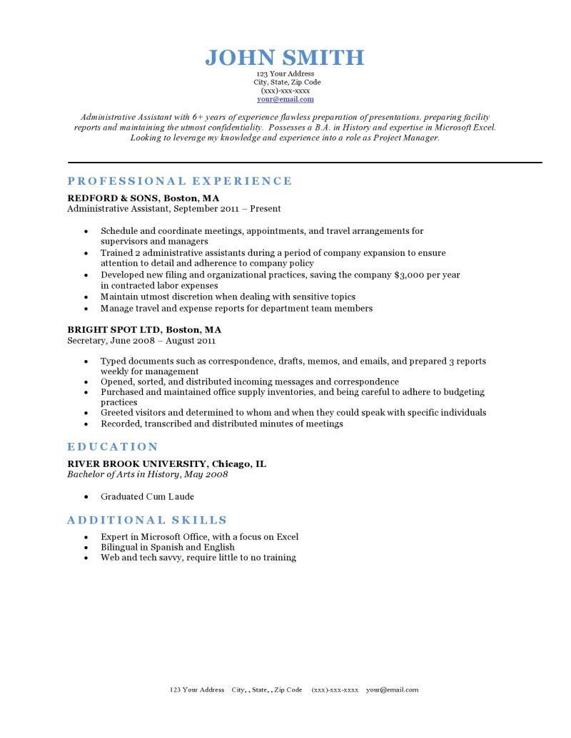 Expert preferred resume templates resume genius resume
