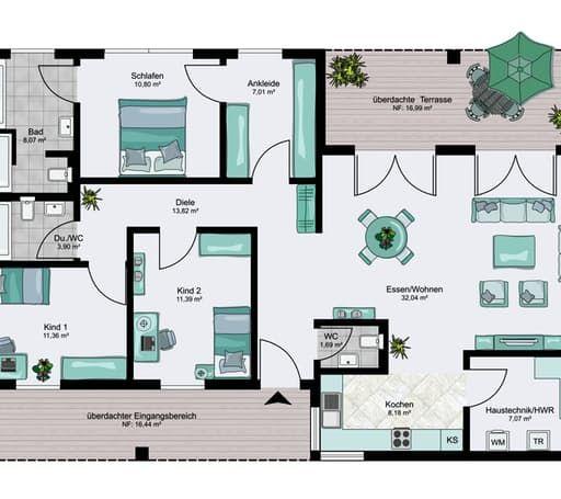 Bungalow XXL floor_plans 0 #apartmentfloorplans