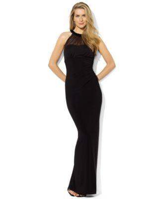 fdb00e21c45ce Lauren Ralph Lauren Sleeveless Mesh Beaded Gown | macys.com ...