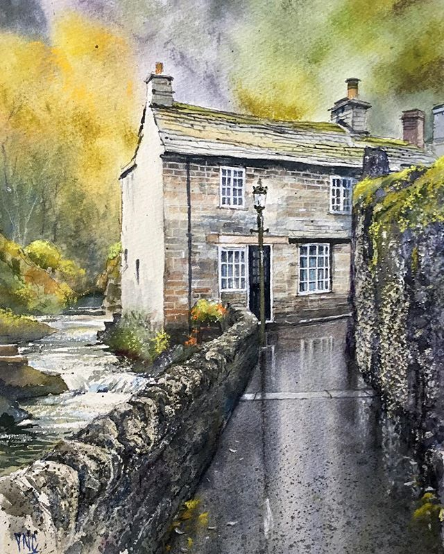 Castleton, Derbyshire. Finished Watercolour of this