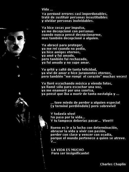 Frases de Charles Chaplin geniales e inspiradoras en imágenes