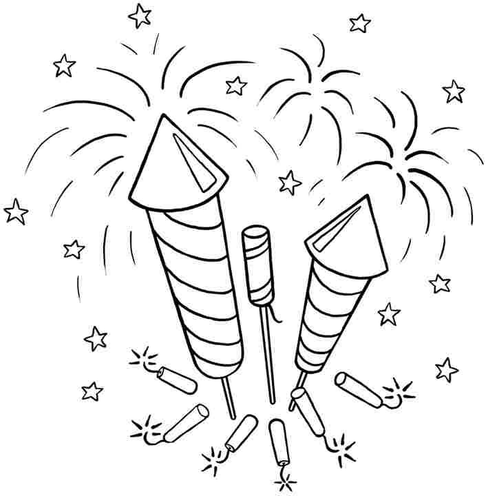 Free Printable Fireworks Coloring Pages For Kids | Mewarnai Pictures Gallery