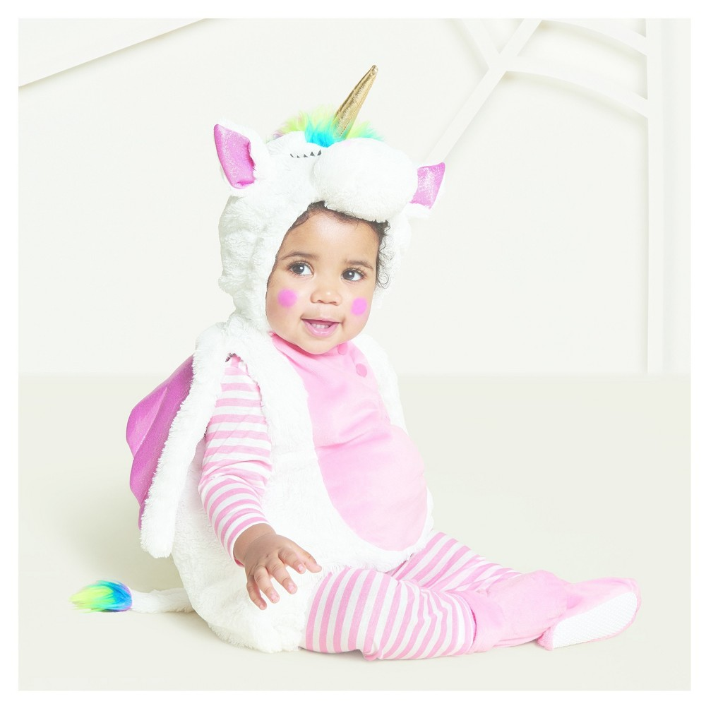 3ab0c0709942 Baby Plush Rainbow Unicorn Vest Costume 12-18 Months - Hyde and Eek!  Boutique, Infant Girl's, Blue Pink White