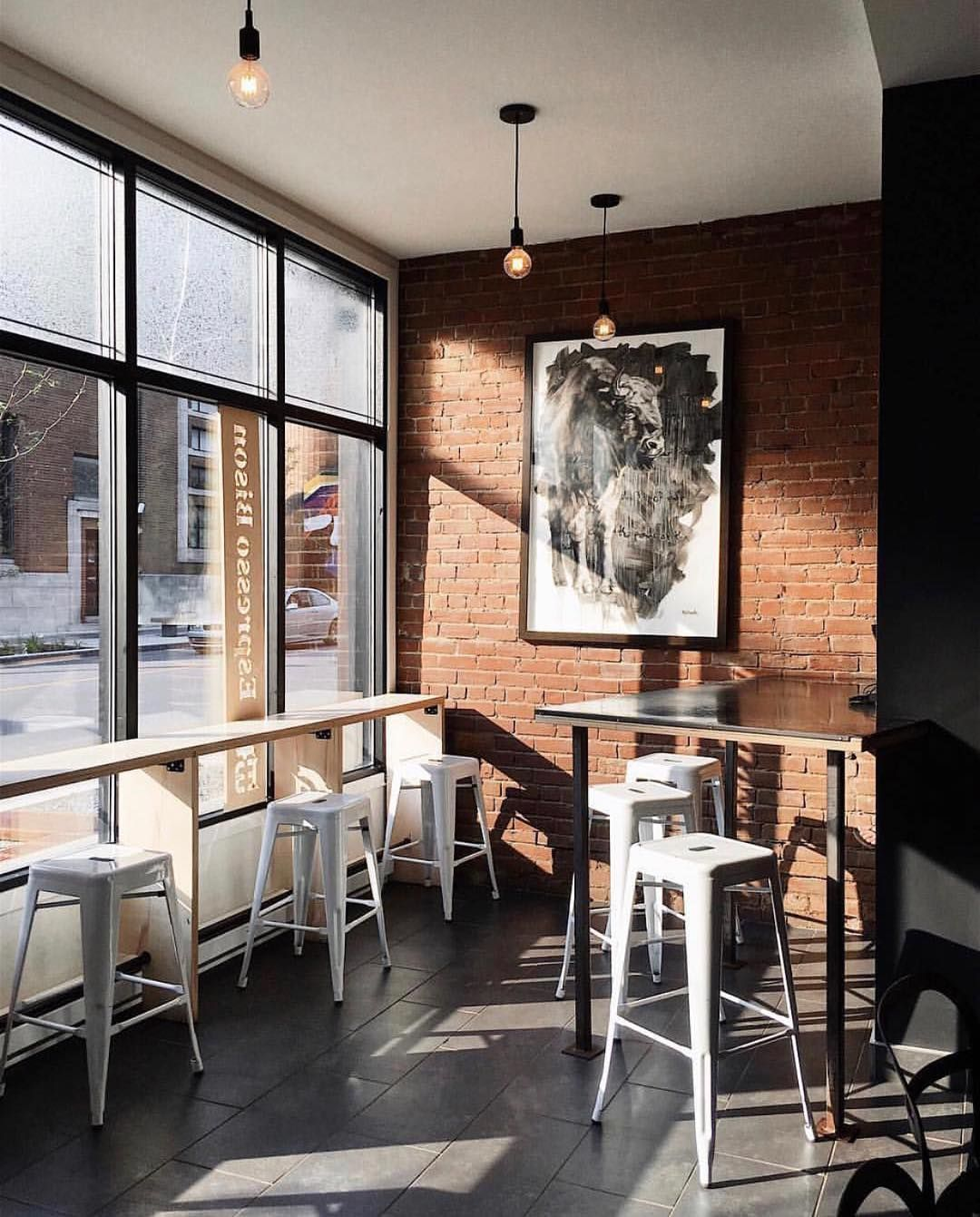 Espresso Bison Coffee Shop In Montreal Janytremblay Th3rd Wave Quebec Canada Coffee Cafe Interior Design Coffee Shop Furniture Coffee Shops Interior