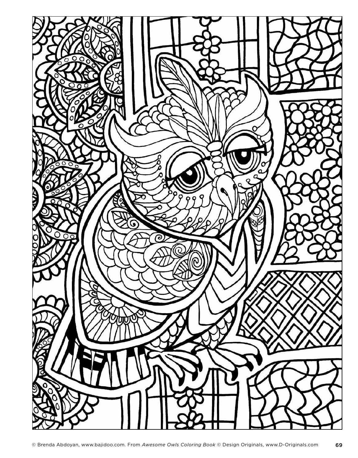 Publishers for adult coloring books - Awesome Owls Coloring Book By Fox Chapel Publishing Issuu