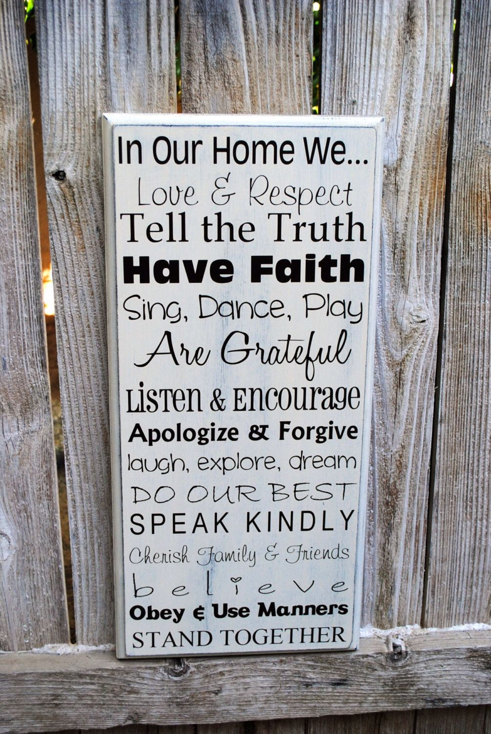 In memory of family wedding sign we know you by signstoliveby - In This House We Do Subway Art Sign Typography Sign Wood Family Rules Sign
