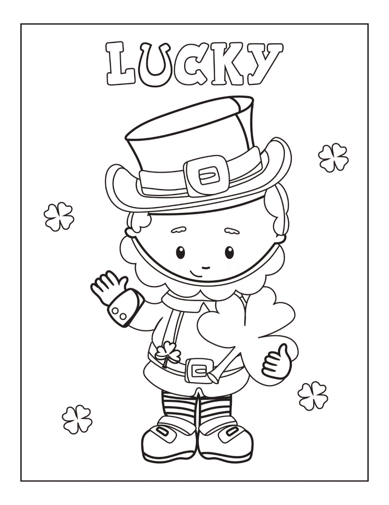 Free Printable St Patrick S Day Coloring Pages Oh My Creative Coloring Pages Diy Coloring Books St Patrick