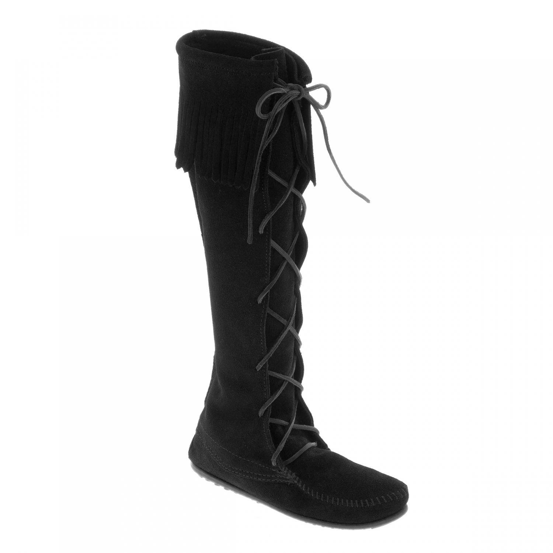 Bottes Hautes Lacées à Franges Noir   Vêtements et accessoires ... 406a98f3c055