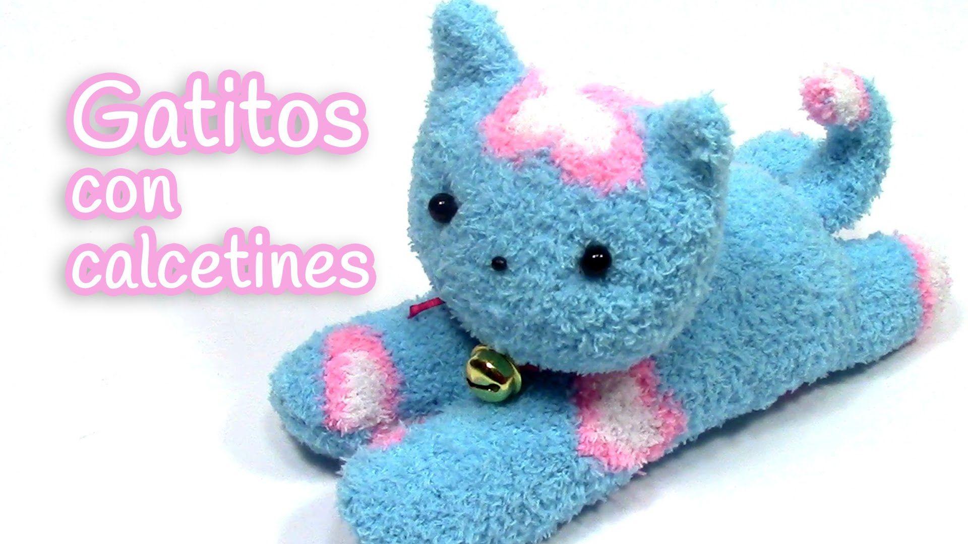 Manualidades Gatito De Peluche Hecho Con Calcetines Innova Manualidades Youtube Gatos De Peluche Manualidades Con Calcetines Munecos Con Calcetines