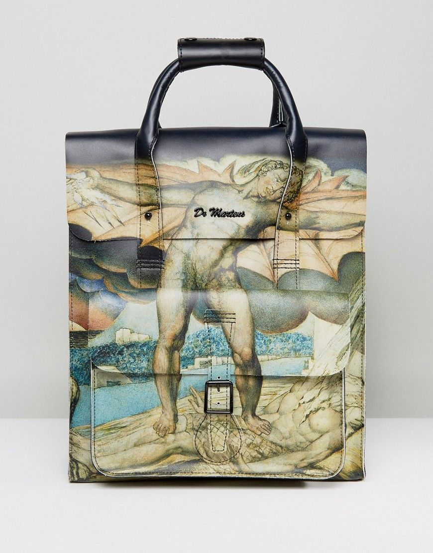 ad5b8b687d4 Dr Martens Leather Backpack William Blake Print - Multi