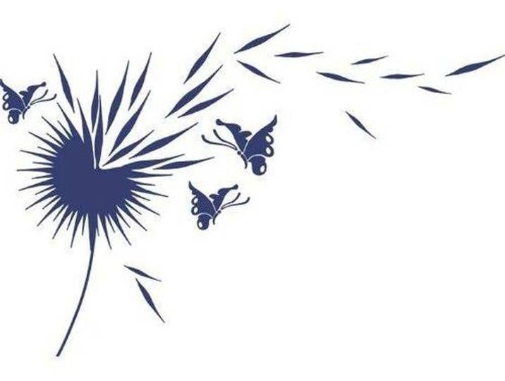 Wandtattoo Blumenblätter, Falter #fallbridalbouquets