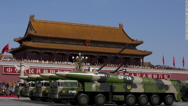 Ballistic missile can hit moving ships, China says, but