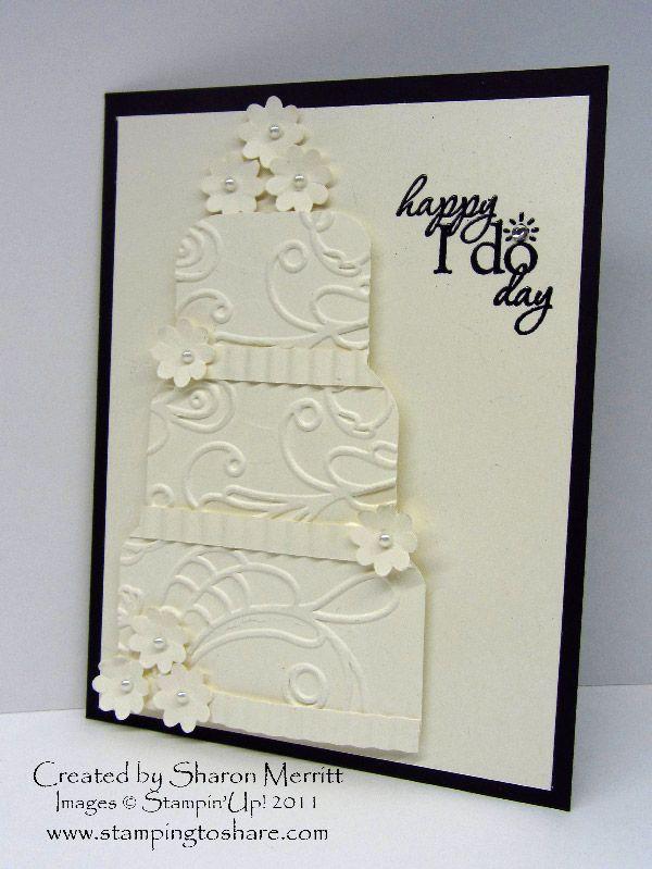 Открытки, открытка на свадьбу торт