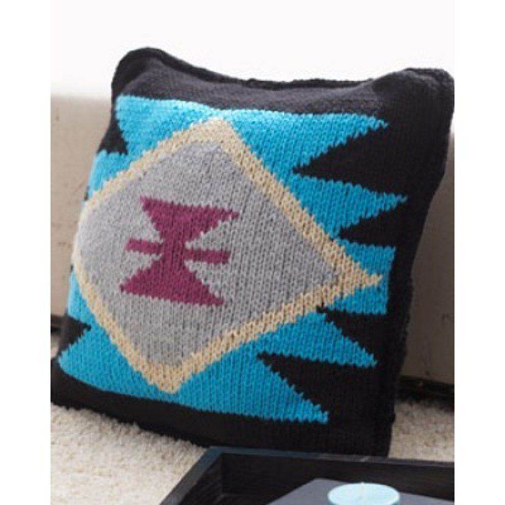 Southwest comfort in bernat softee chunky discover more patterns find this pin and more on knitted cushion patterns by loveknittingcom bankloansurffo Choice Image