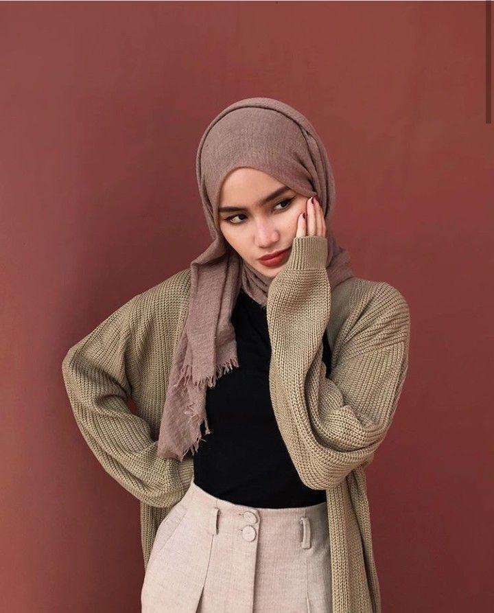 Pin oleh Tiarady di ootd | Casual hijab outfit ...