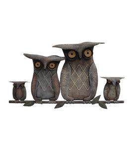 Autumn Inspirations 26 Metal Owls Wall Decor