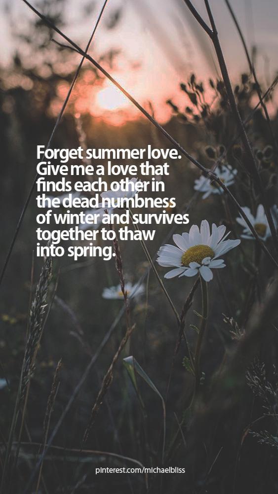Forget summer love