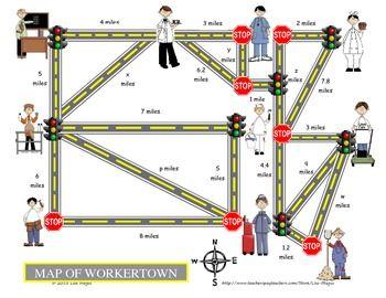 Pythagorean Theorem Real World Examples Fun Map Activity Pythagorean Theorem Teaching Math Middle Map Activities