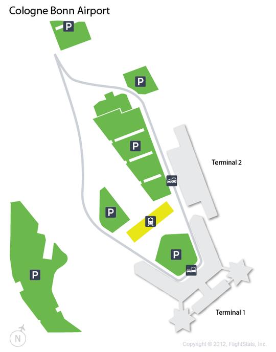 CGN Cologne Bonn Airport Terminal Map airports Pinterest