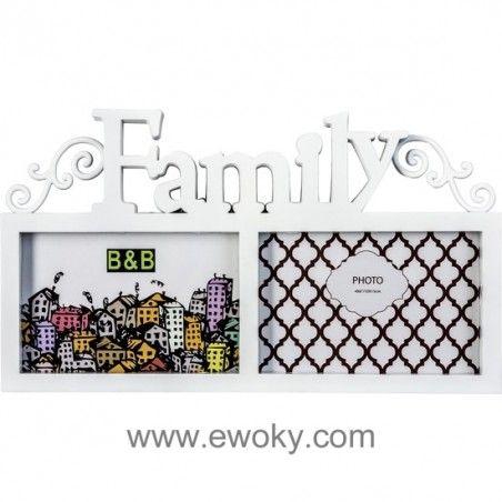 MARCO FAMILY 2 FOTOS BLANCO 31,5 x 18 cm