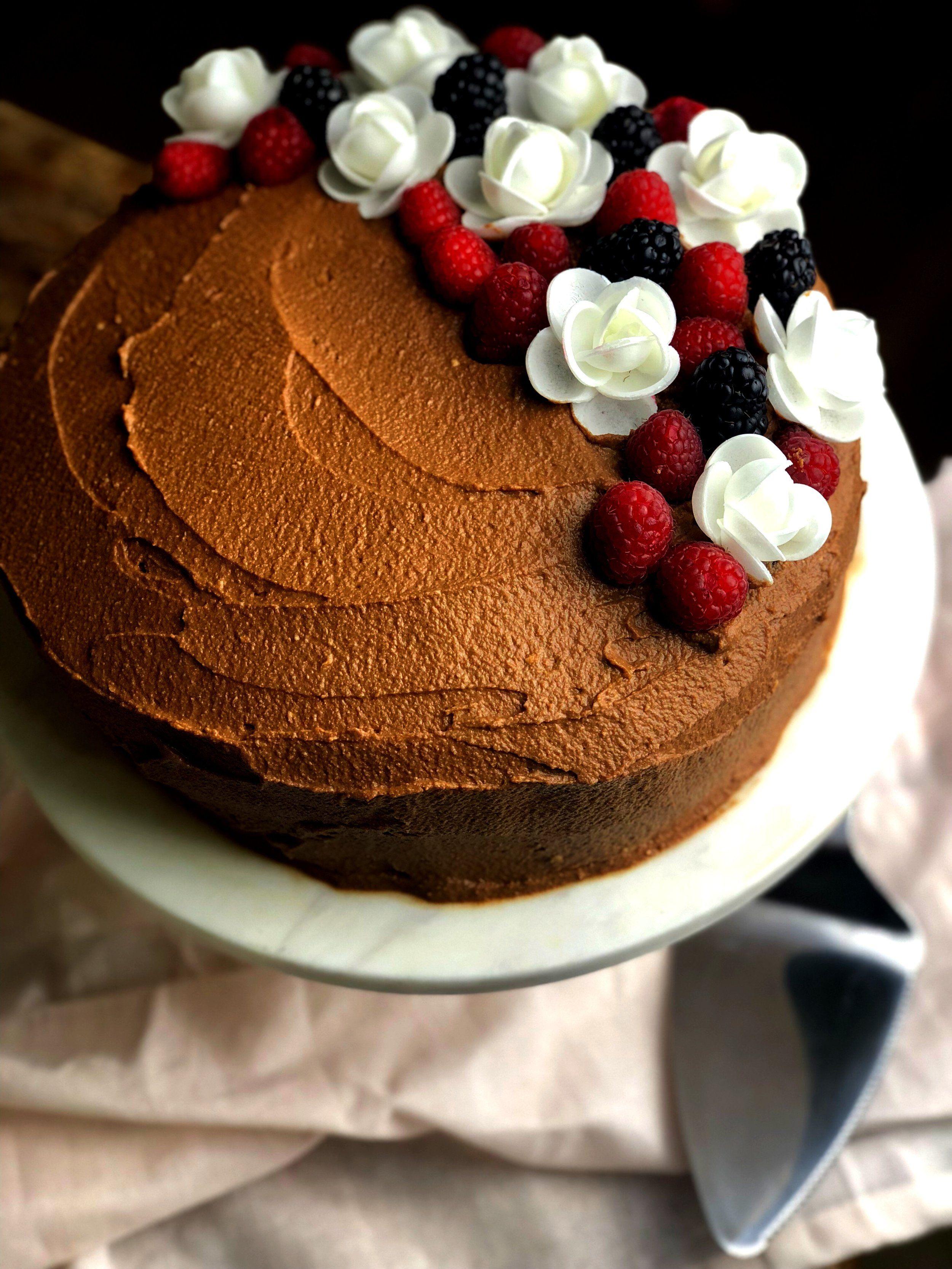 Chocolate birthday cake keto lowcarb gluten free with