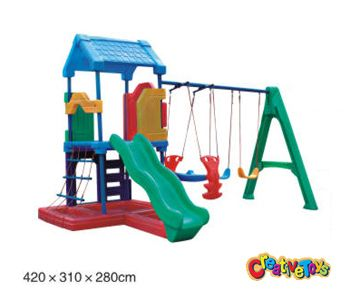 Plastic Outdoor Swing Set And