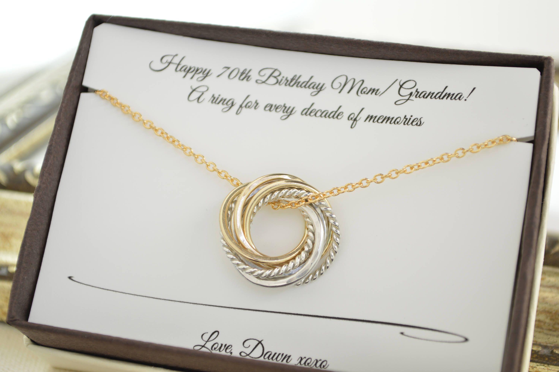 70th birthday gift for mom 7 birthday jewelry 7th etsy