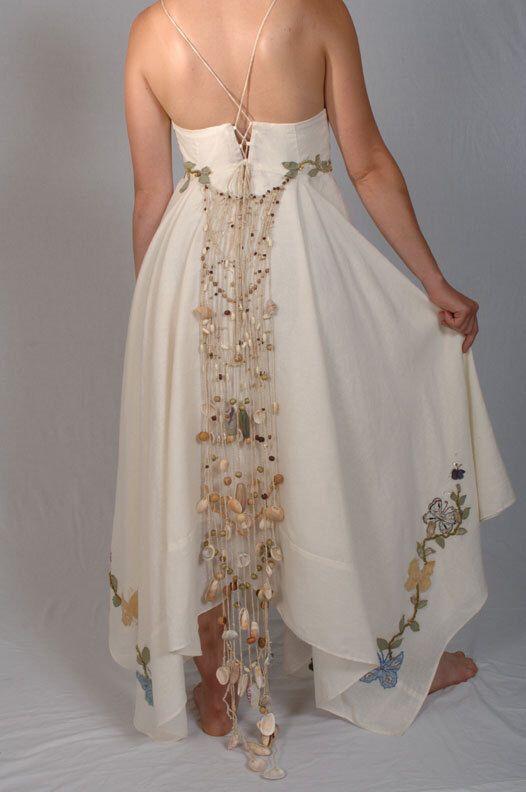 Hippie Wedding Dress, Maya with Butterfly Appliques is a  Unique Bohemian Wedding Dress, Hemp Wedding Dress, Alternative Wedding Dress by TaraLynnStudio on Etsy https://www.etsy.com/listing/172618462/hippie-wedding-dress-maya-with-butterfly