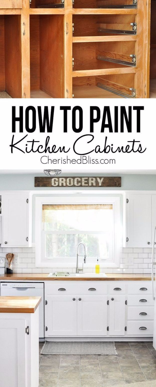 DIY Kitchen Makeover Ideas - DIY Shaker Style Cabinets - Cheap ...