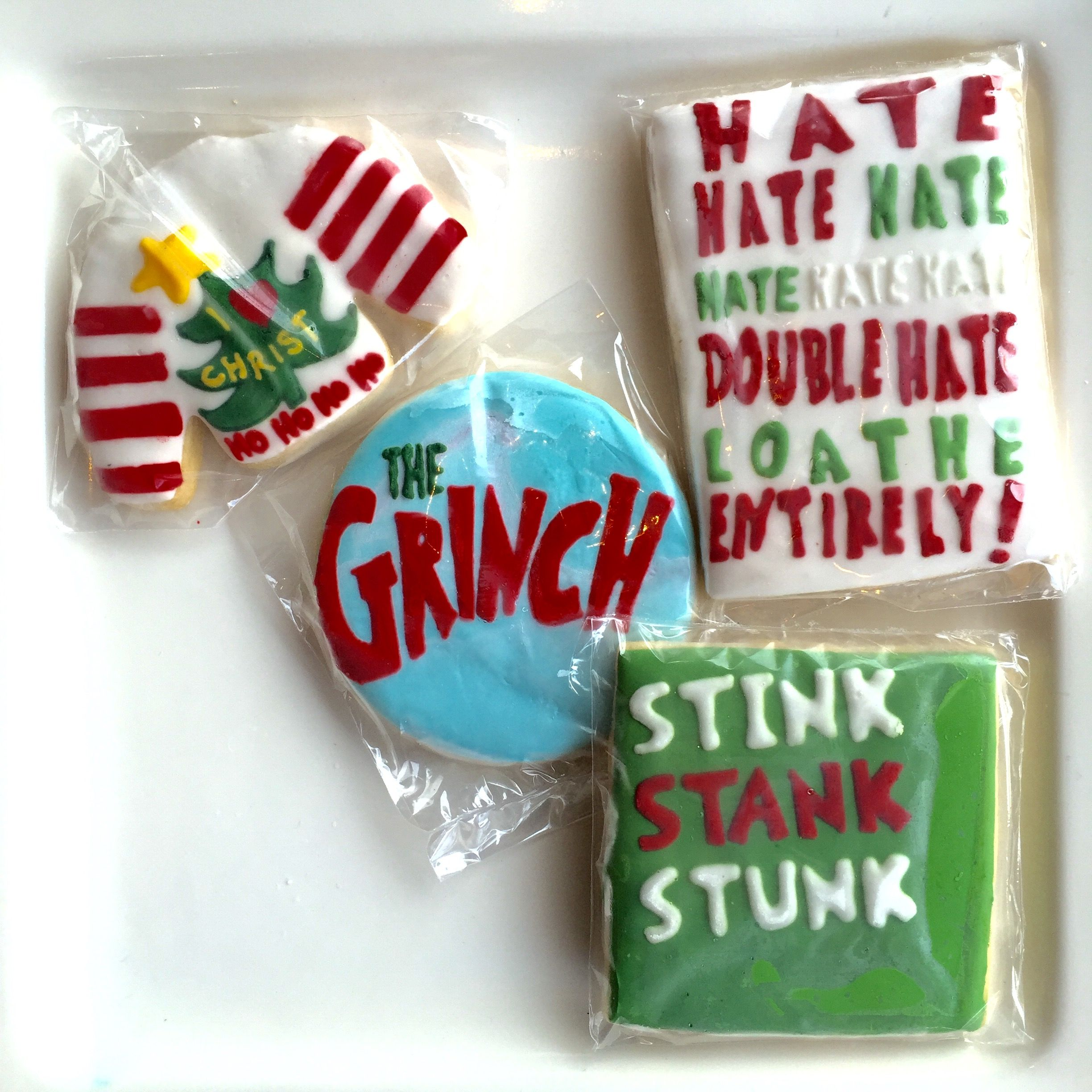 Jim Carrey How The Grinch Stole Christmas Decorated Sugar Cookies