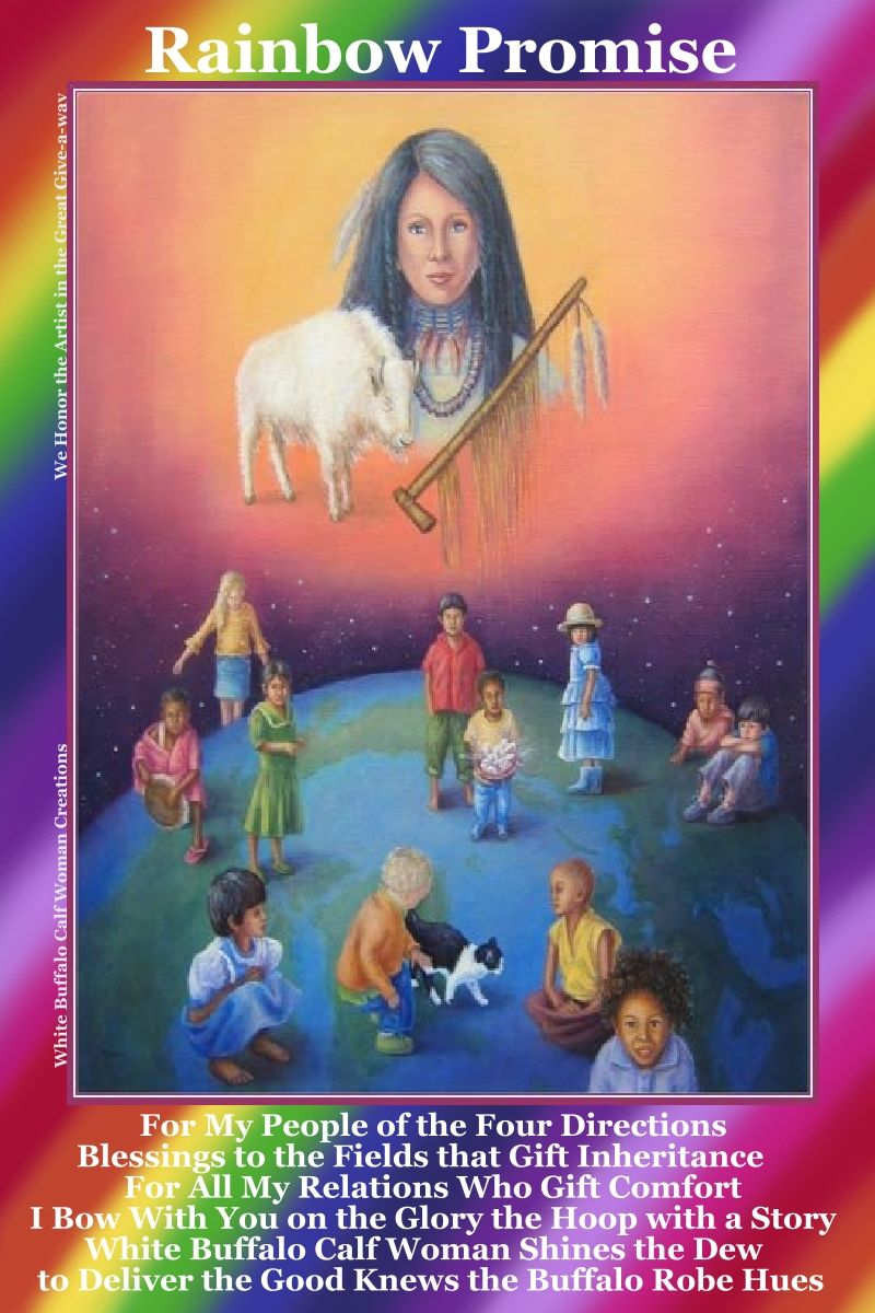 Image result for white buffalo calf woman (rainbow promise)