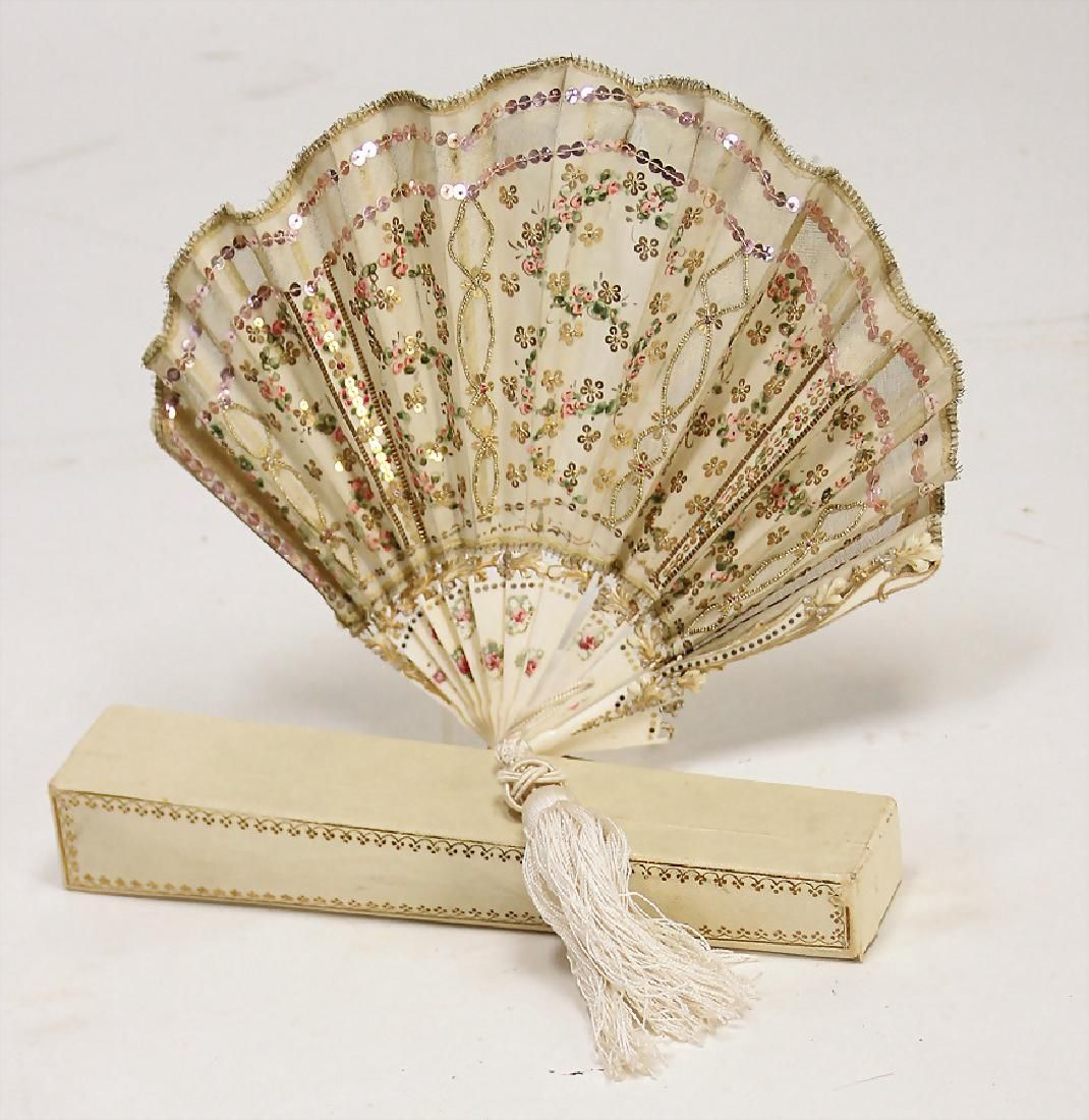 Doll S Or Children Fan C 1870 With Unusual Ivory