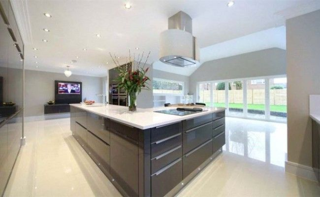 White Kitchen Units With Grey Worktop kitchens white grey high gloss - google search | extension