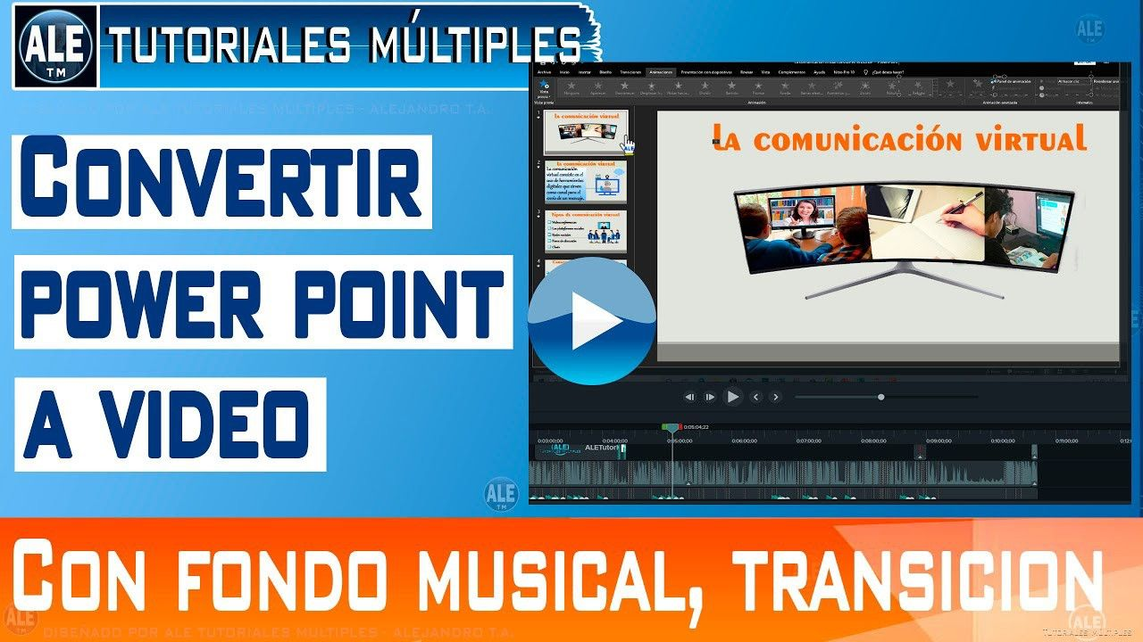 Como Convertir Powerpoint A Video Hacer Un Video En Power Point Con Mú Powerpoint Hacer Un Video Videos