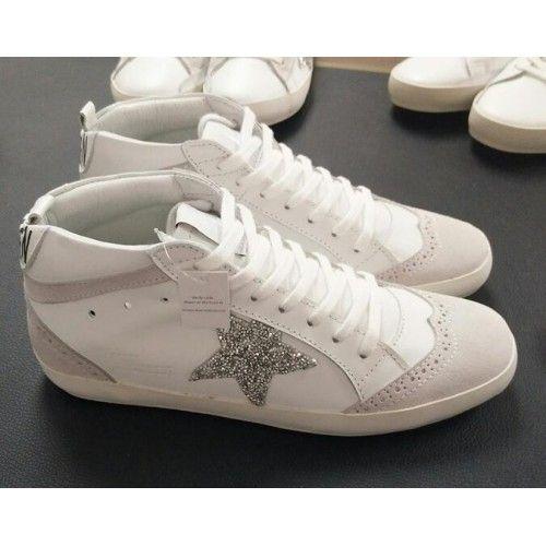 8a089cf23eacc0 Pas Cher Basket Golden Goose Midstar Homme GGDB Sneakers Glitter Blanc