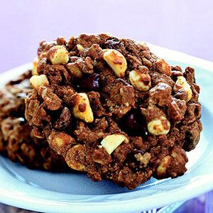 These Dream Cookies are packed with oatmeal, chocolate, peanut butter and nuts. A great cookie for snacking -- and sturdy enough to take to potlucks, parties & more!