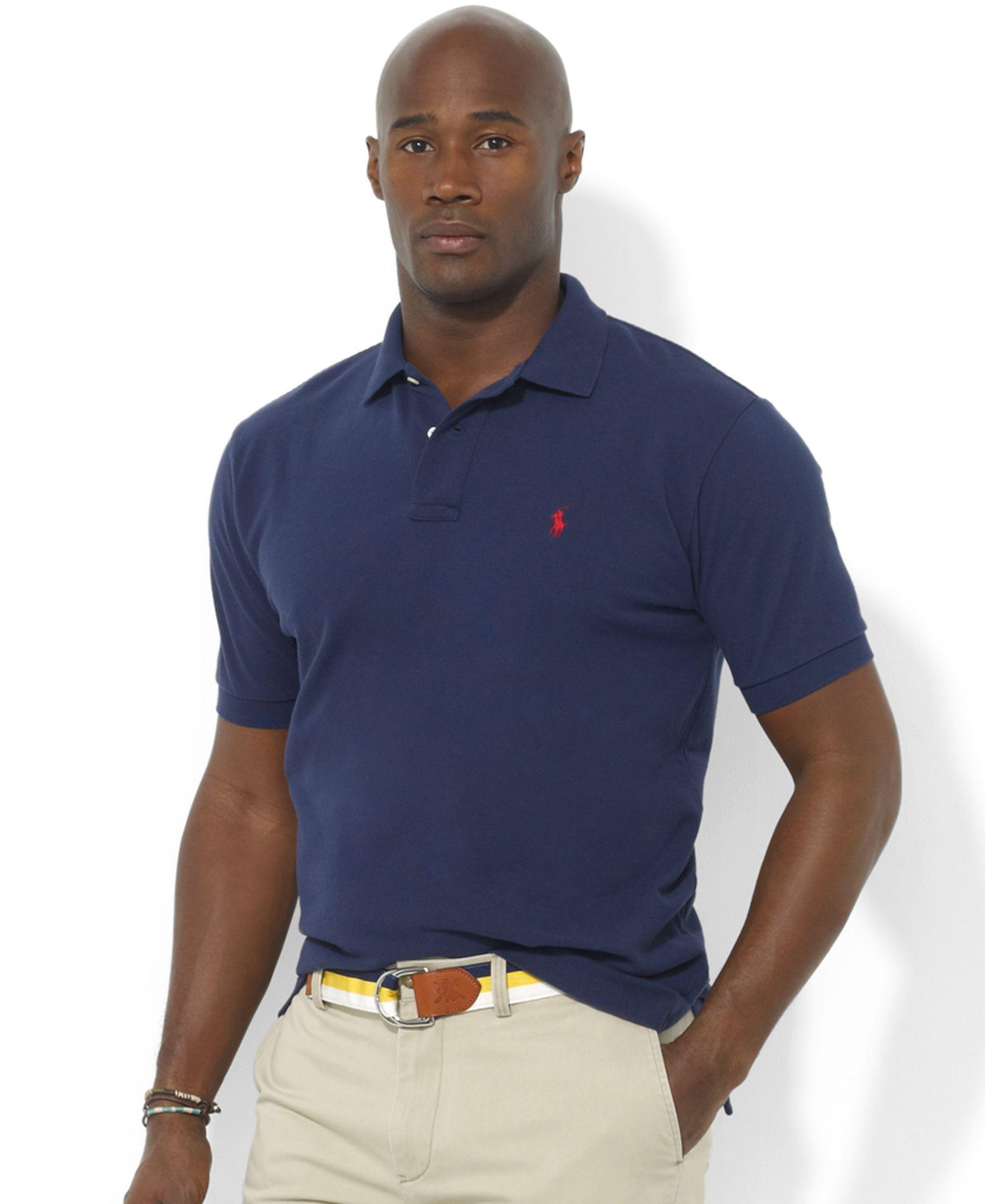 7b4402fe Polo Ralph Lauren Big and Tall Shirt, Classic-Fit Short-Sleeve Cotton Mesh  Polo