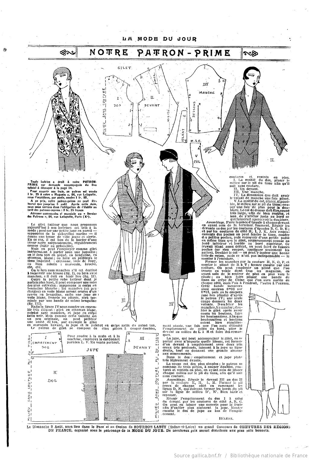 La Mode du jour | MODA MUJER 1920-1960 | Pinterest | Vestidos años ...