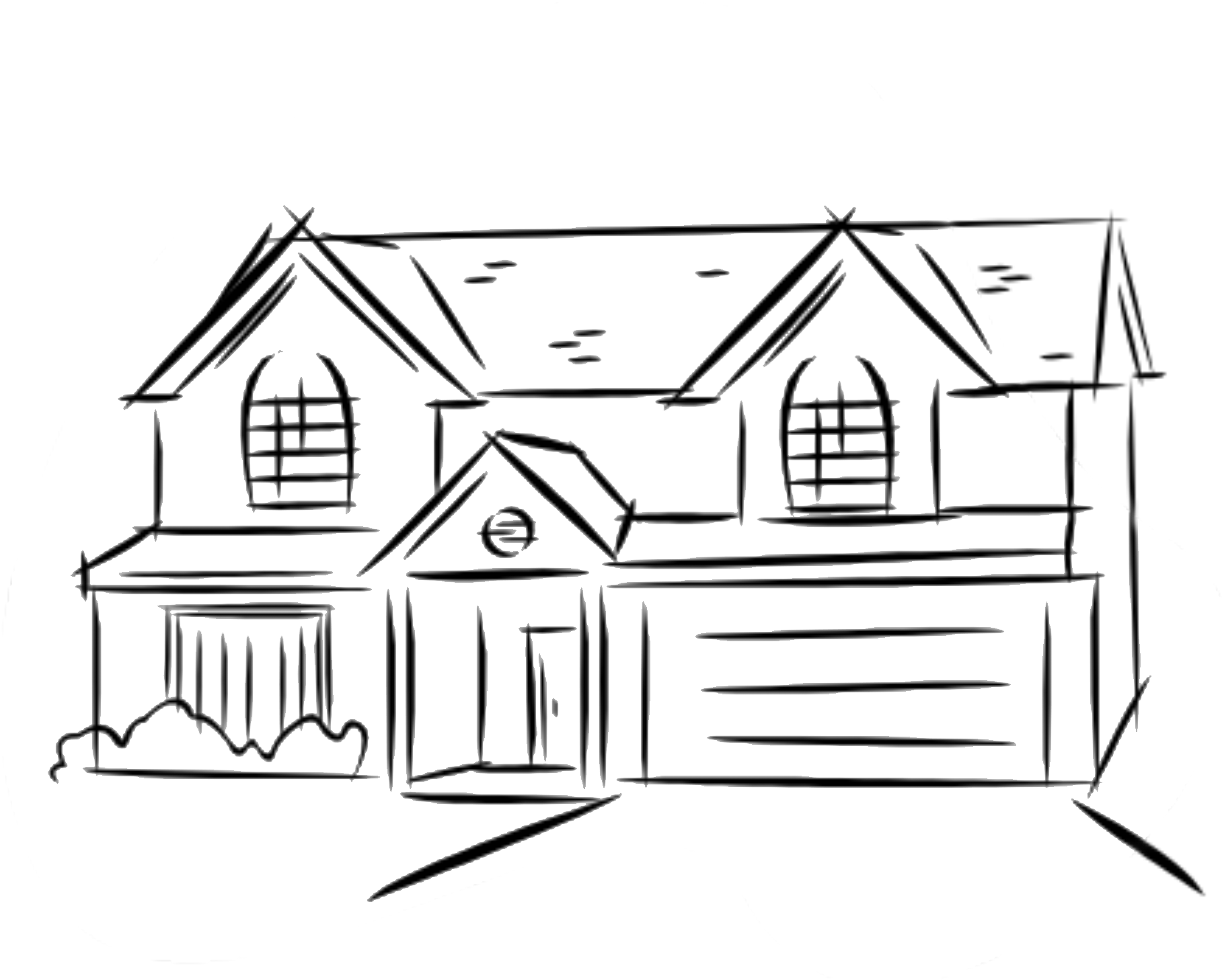 House2 Png 1 817 1 458 Pixels Dream House Drawing Simple House Drawing House Drawing