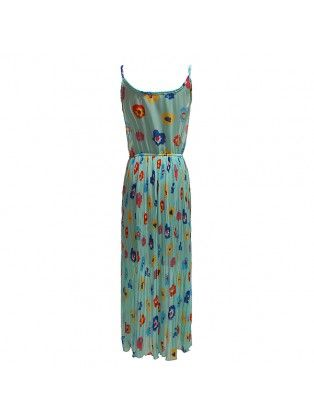 Floral Suspenders Chiffon Dress
