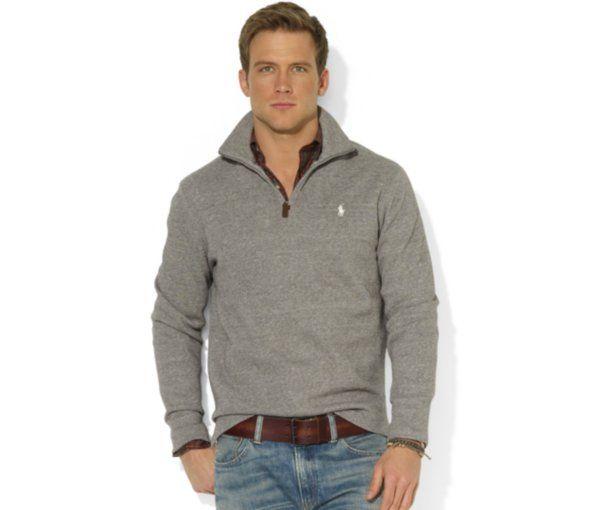 Polo Ralph Lauren French-Rib Half-Zip Pullover Sweater - Sweaters - Men - f0368fff3f7b2