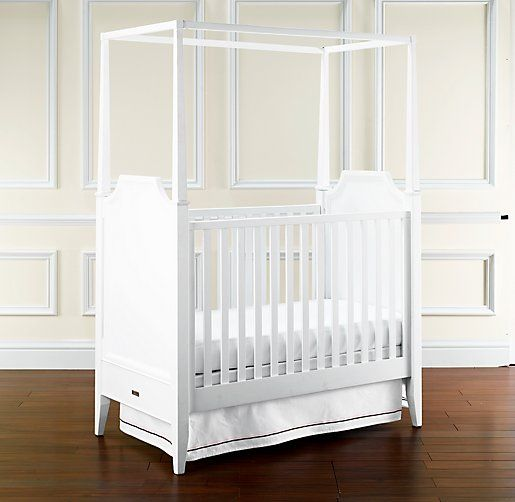 Restoration Hardware sutton canopy crib - white & Restoration Hardware sutton canopy crib - white | Nursery ...