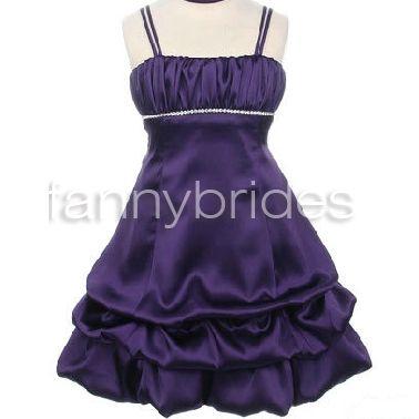 Elegant Ball Gown Spaghetti Straps Sleeveless Tea-length Layered and Bow Taffeta Flower Girl Dress - Fannybrides.com